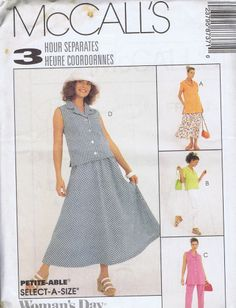 """Skirt Top SEWING PATTERN MCCALLS 8737 SIZE 8-12 BUST 31.5-34 HIP 33.5-36"""" UNCUT"""
