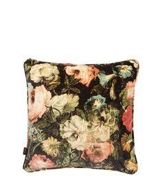 House of Hackney Medium Midnight Garden Velvet Cushion