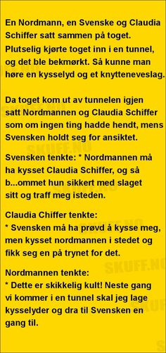 En Nordmann, en Svenske | SKUFF.no - Vitser Og morsomme Bilder Claudia Schiffer, Motorcycles, Humor, Funny, Photo Illustration, Cheer, Humour, Motorbikes, Wtf Funny
