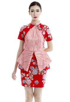 Blouse Batik, Batik Dress, Myanmar Traditional Dress, Traditional Dresses, African Fashion Ankara, African Dress, Beautiful Dresses, Nice Dresses, Casual Dresses