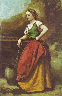 """""""Jeune Femme au Puits"""" Jean Baptiste Camille Corot, 1867-70"""