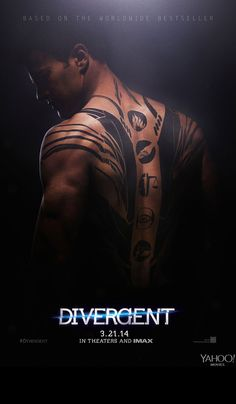 First #Divergent posters with Shailene Woodley and Theo James.