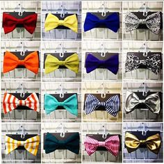 An assortment of our bows. #AmericanApparel #bows #colors