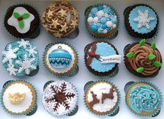 Festive Christmas cupcakes!