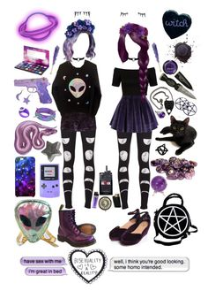 Lila & Violet - Purple Girlfriends by sw-13 on Polyvore  ocs.. again.. I made three extra outfits for each of them but Lilac's outfits can't be shown anymore on polyvore because it apparently broke a rule or something :C Wish I had saved it before it happened