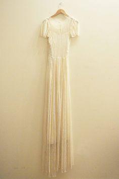 Vintage Bridal 1930's Chantilly lace wedding by MirandasBridal
