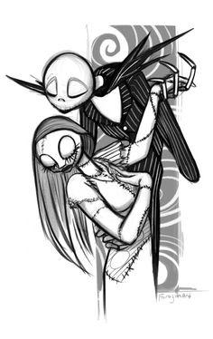 Jack Skellington and Sally #TheNightmareBeforeChristmas #Halloween