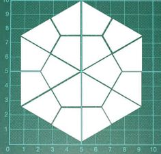 Hexagon hier gratis eine PDF-Datei mit Schablonen fürs Lieseln wie Hexagons (Sechsecken), Pentagons (Fünfecken), Quadrate, Rauten Lonestars, Dreiecke usw.