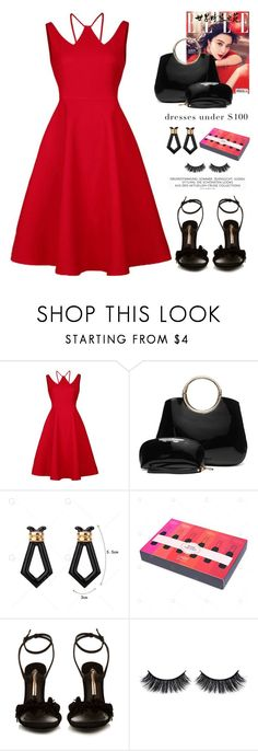 """""""Skater Party Dress"""" by yexyka ❤ liked on Polyvore featuring Sophia Webster, Battington and vintage"""