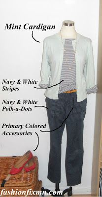 Life in Fashion with Lindaisy Polka-a-Dot Pants and Navy Stripes!