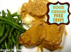 These Sour Cream Pork Chops are comfort food at its finest! They are loaded with flavor and have a delicious gravy that's perfect on mashed potatoes.