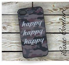 happy happy happy camo iphone 4 case iphone 4s by icasecouture, $15.99
