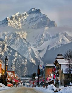 Banff, Alberta, Canada....been there many times...it's always lovely, no matter what time of year.