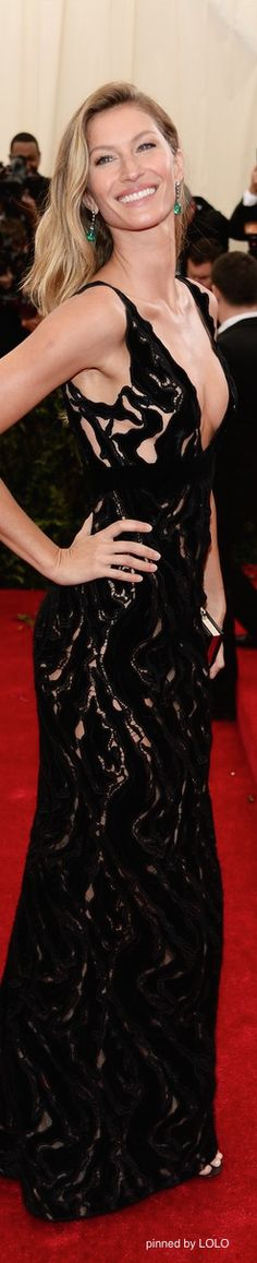 Gisele Bundchen 2014 Met Gala Red Carpet