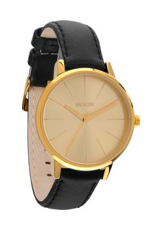 NIXON | Valentine's Day Gift Guide: The Kensington Leather in Gold