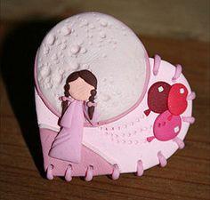 """Anillo Corazn de Nia Rosa (""""creativARTE: Detalles en plastilina"""") Tags: fimo clay plastilina polyner creativarte"""
