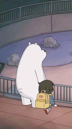 Ice Bear and Chloe 😍 Bear Wallpaper, Kawaii Wallpaper, Wallpaper Iphone Cute, Disney Wallpaper, Cartoon Wallpaper, We Bare Bears Human, Ice Bear We Bare Bears, We Bear, We Bare Bears Wallpapers