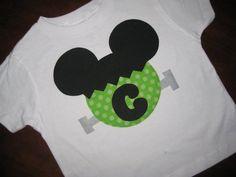 Custom Halloween Mickey/Minnie Ears Tee Shirt by HeadOverHeelsTX, $32.00