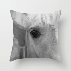 Horse Pillow Cover, Black and White, Horse Photograph, Fine Art Photo, Country Home Decor, Girls Room Decor, Rustic Home, Horse Decor, Gray by: Molly O'Bryon-Welpott MollysMuses