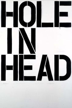 Christopher Wool, Head, 1992 enamel on aluminum 108 x 72 inches (274.3 x 182.9 cm) _