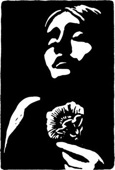 Eurydice by Peter Nevins http://www.peternevins.com/ Tags: Linocut, Cut, Print, Linoleum, Lino, Carving, Block, Helen Elstone, Human, Portrait