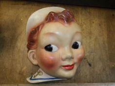 Vintage Sailor Boy Chalkware String Holder | eBay