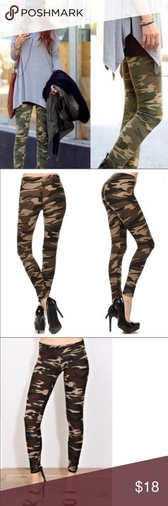 Camouflage Leggings One size/ spandex  blend                                        camouflage leggings. Classic Woman Pants Leggings