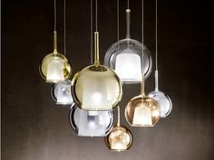 Pyrex® pendant lamp Glo Collection by Penta | design Carlo Colombo