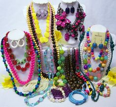BEADED FASHION JEWELRY LOT - NECKLACES, BRACELETS AND EARRINGS #Jewelry #Deal #Fashion