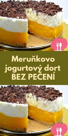 Merunkovo jogurtový dort BEZ PECENÍ Czech Recipes, Cake Decorating Techniques, Desert Recipes, Creative Food, Baking Recipes, Sweet Tooth, Sweet Treats, Cheesecake, Food And Drink