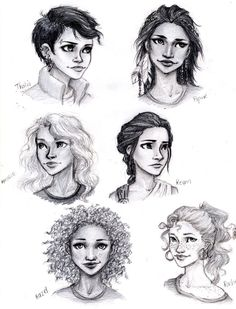 Percy Jackson Girls by meabhdeloughry.deviantart.com on @deviantART