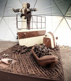 'I'll never let go'... of my TCHOcolate!  - Chocolate sculpture: Chocolate Titanic by Coussier, via Flickr