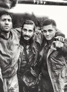 Jon Bernthal, Shia Le Beouf, Logan Lerman in 'FURY' 2014 (awesome movie loved it a very strong impact)
