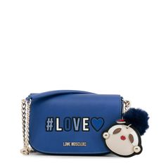 Gender:Woman Type:Clutch Material:synthetic leather Main fastening:magnetic Shoulder strap:shoulder strap Inside:lined Width Height Depth Details:appliquesdustbag includedvisible logo The post Love Moschino – appeared first on Top 99 Fashion Brands. Moschino Bag, Blue Clutch, Leather Clutch Bags, Crossbody Bags, Bags Online Shopping, Luxury Bags, Purses And Bags, Women's Bags, Tote Bags