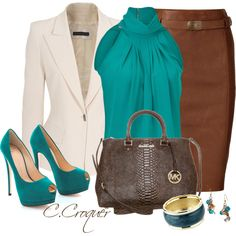 A fashion look from November 2013 featuring Michael Kors tops, Plein Sud blazers and Polo Ralph Lauren skirts. Browse and shop related looks.