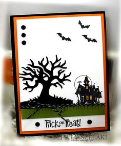 Hello Peeps !!!     Happy Thursday !!!     I made this quick and simple Halloween card using the Spooky Fun stamp set   and match...