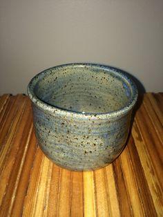 Ceramic cylinder handleless cup  9 oz short by TurningTrueStudios