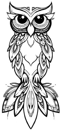 COCO illustration & design tribal owl owl tribal zentangle tattoo pattern linework is part of Owl tattoo - Owl Tattoo Drawings, Art Drawings, Tattoo Owl, Tribal Owl Tattoos, Tattoo Outline Drawing, Cute Owl Tattoo, Tribal Drawings, Outline Drawings, Drawing Drawing