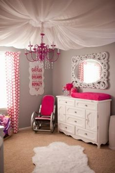 A girl's room with fabric ceiling | 5 Ways To Hide Popcorn Ceilings