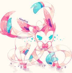 Sylveon the Intertwining Pokemon. #Pokemon #Sylveon #fanart