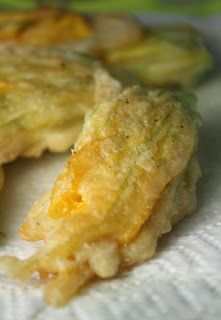 stuffed squash blossoms with herbs and cheese