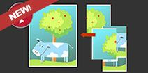 Play Cow Puzzle online for free, 4 pieces jigsaw puzzle for Toddlers