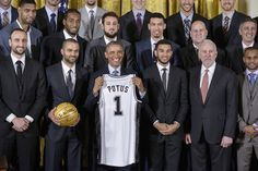 On Monday, the San Antonio Spurs took a trip to the White House to celebrate their victory as the 2014 NBA Champions. The President, of course, was full of dad jokes. | The San Antonio Spurs Went To The White House And Obama Made Jokes About Them Being Old