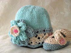 Sombrero del bebé que hace punto el sombrero del por CottonPickings