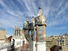 Chimneys on Gaudi's house in Barcelona, December 2011