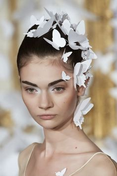 The Terrier and Lobster: Alexis Mabille Haute Couture Spring 2014 Butterfly Hair