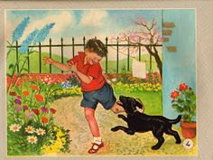 ilclanmariapia: I poster a scuola Images, Illustratore, Vintage Illustrations, Painting, Gardens, Posters, Alphabet, Letters, Children