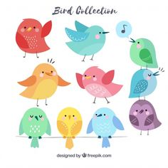More than 3 millions free vectors, PSD, photos and free icons. Exclusive freebies and all graphic resources that you need for your projects Funny Birds, Cute Birds, Bird Barn, Barn Owls, Drawing Activities, Bird Illustration, Illustrator Tutorials, Little Birds, Kids Prints