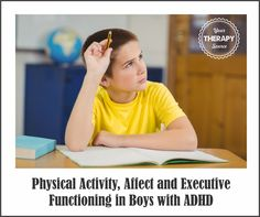 The Journal of Attention Disorders published research on two studies to investigate the role of physical activity on the affect and execu. Activities For Boys, Physical Activities, Adhd Symptoms In Children, Attention Disorder, Adhd Signs, Autism Education, Pediatric Occupational Therapy, Executive Functioning, Skills To Learn