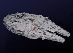 Lego Millennium Falcon by Marshal Banana - Measuring: 82 cm x 54 cm x 18 cm Weight: approx. 10 kg Parts count: approx. 7500 pieces